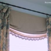 28-Navy & Flax Floral Window Treatments