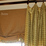 29-Stationary Loose Fold Roman Shade Valance