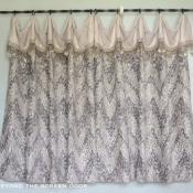 46-Ivory & Gray Cafe Curtain