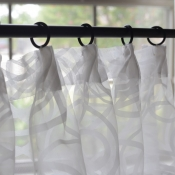 45-Pleated Sheer Cafe Curtain