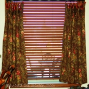 38-Brown Floral Cafe Curtains