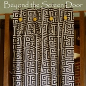 32-Navy & White Greek Key Long Panels
