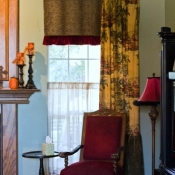 67-Toile Panels Paired With An Animal Print Undervalance
