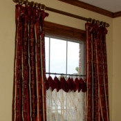 64-Long Panels Paired With Cafe Curtains