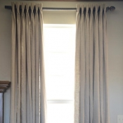 76-Curtain Panels with French Pleats and Grommets