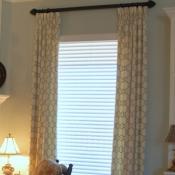 18-Aqua & Ivory Quatrefoil Window Treatment.JPG