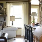 15-Ivory Linen Pleated Panels