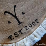 16-Monogrammed Tree Skirt