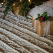 17-Rag Quilt Tree Skirt with Tutorial