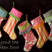 20-Multifabric Stockings with Assorted Fringe