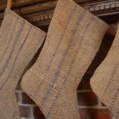 22-Burlap Striped Stocking