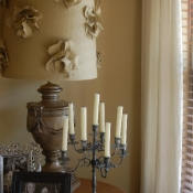10A-fabric flower lampshade