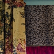 29-Toile & Cheetah Window Treatments