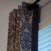 16-Navy & Ivory Window Treatments