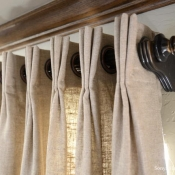 25-Curtain Panels with Grommets & French Pleats
