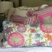 28B-Floral-Pillow-with-Teal-Piping