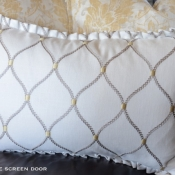 28D-Rectangle Pillow with Pleated Ruffle