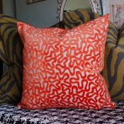21E-Orange Swirl Pillow