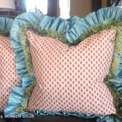29E-Ruffled & Trimmed Pillow