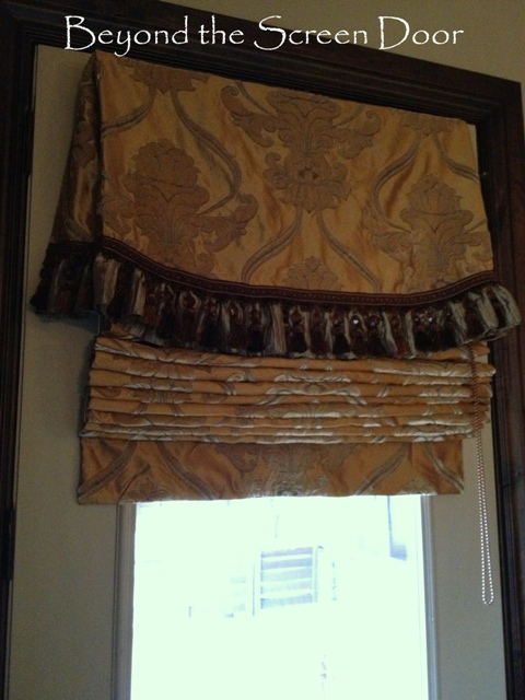 Gallery Valances Amp Roman Shades Beyond The Screen Door