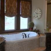 11-Master Bathroom Motorized Roman Shades