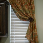 12-Sill length panel draped to side