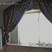 16-Master Bathroom Curtain