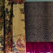 33-Toile Panels with Leopard Print Undervalance