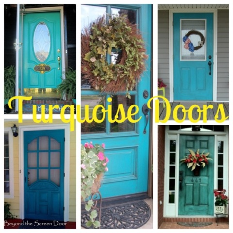& A Collection of Turquoise Doors - Sonya Hamilton Designs