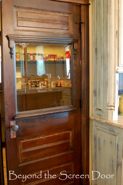 Antique Pantry Door Beyond The Screen Door