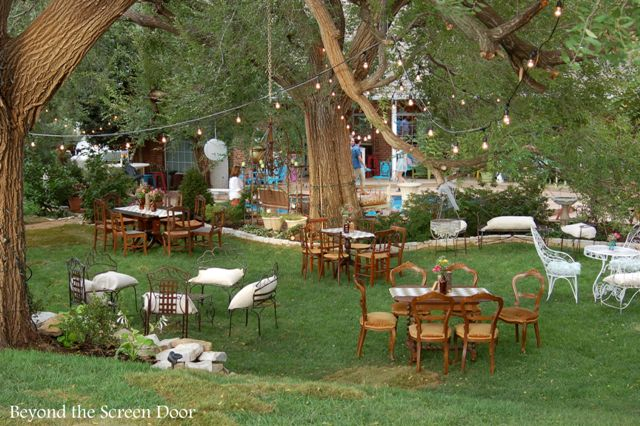 Backyard Wedding Receptions backyard wedding reception - sonya hamilton designs