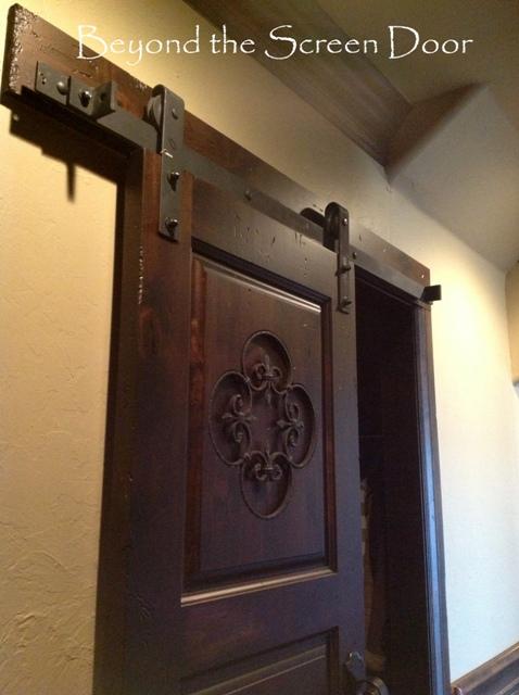 Barn Door with Metal Hardware