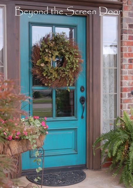 turquoise front doorTurquoise Front Door  Beyond the Screen Door