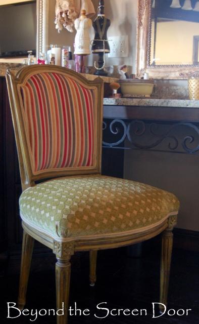 Reupholstered Vanity Chair