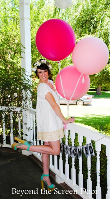 Bridal Shower Details – DIY Ombre Clothespins, Banners, Oversize Balloons & More