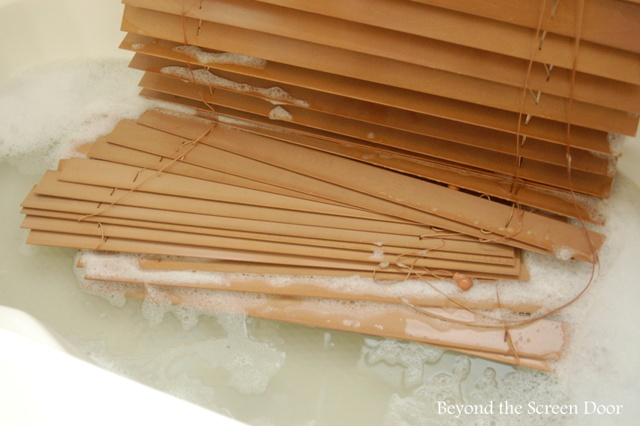 A Slightly Unorthodox Method for Cleaning Faux Wood Blinds
