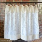 Cotton Sheer Cafe Curtain with Flap