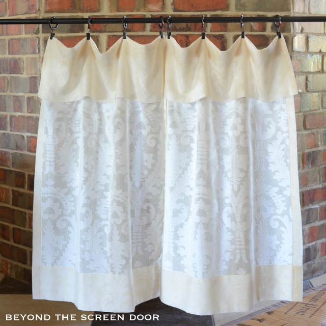 Cotton Sheer Cafe Curtain with Flap - Sonya Hamilton Designs