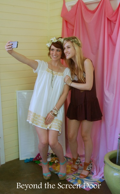 Bridal Shower Details – Photo Ops and a DIY Ombre' Backdrop