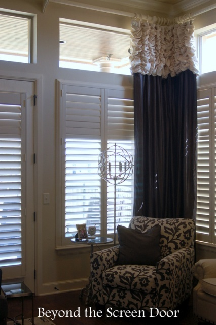 Elegant Gray & Ivory Window Treatments (3)