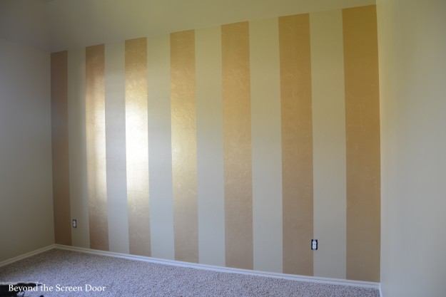 Gold Metallic Striped Wall Sonya Hamilton Designs