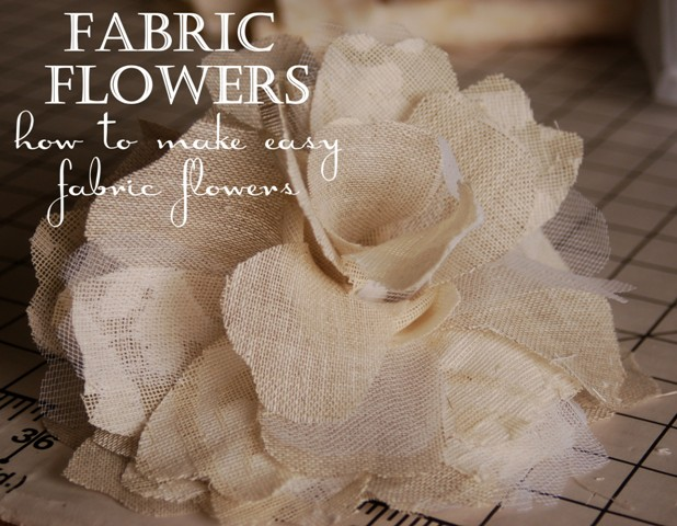 easy tutorial how to make fabric flowers beyond the screen door. Black Bedroom Furniture Sets. Home Design Ideas