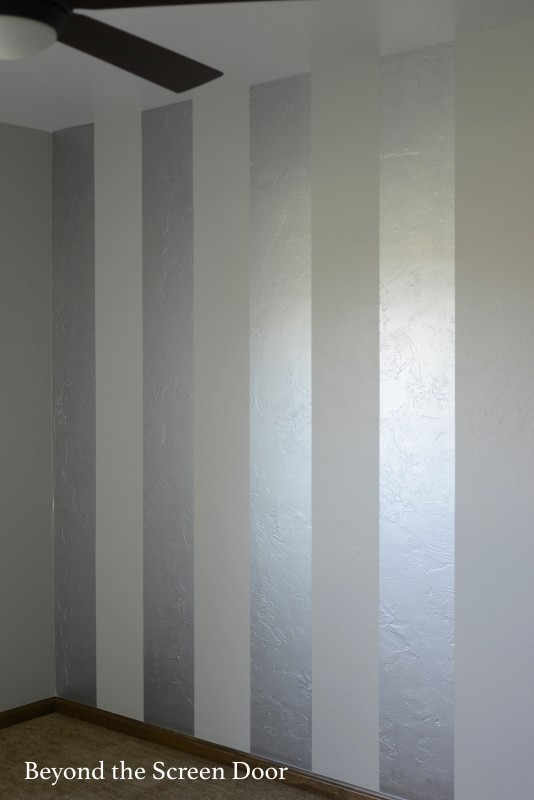 Metallic Paint For Walls painting gold & silver metallic stripes - beyond the screen door
