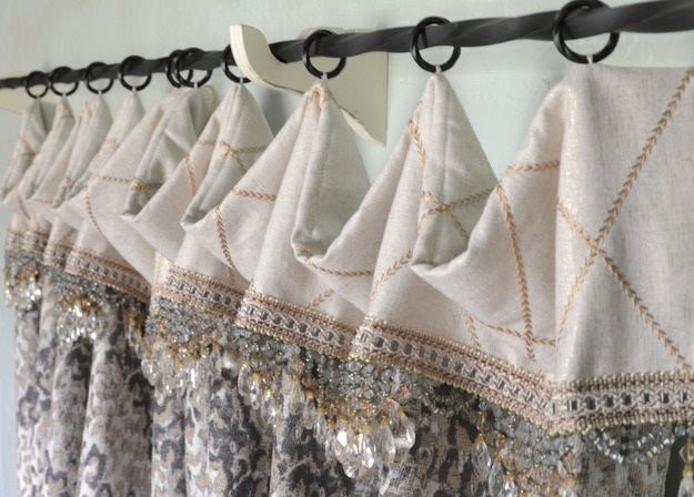 Beaded Cafe Curtain And How To Sew On Curtain Rings