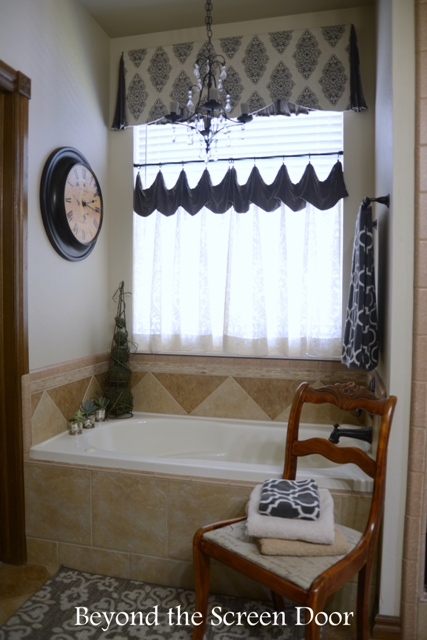 Bathrooms archives beyond the screen door for Master bathroom curtains