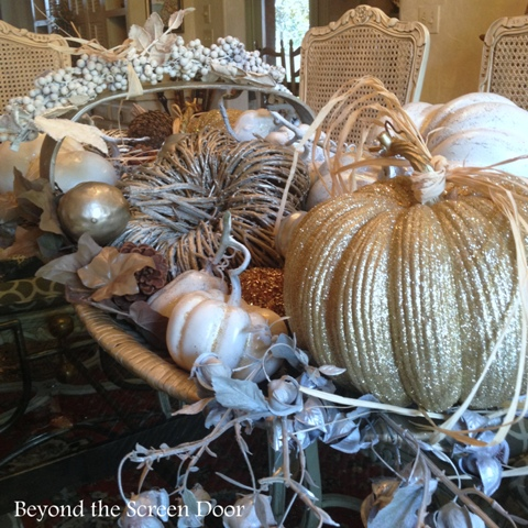 Dining Room Before & After Including Updated Fall Centerpiece