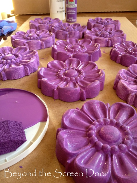 How To Paint Custom Flower Medallions For Curtain Hardware