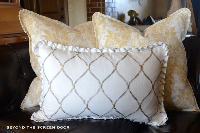 Pleated Ruffle Pillows