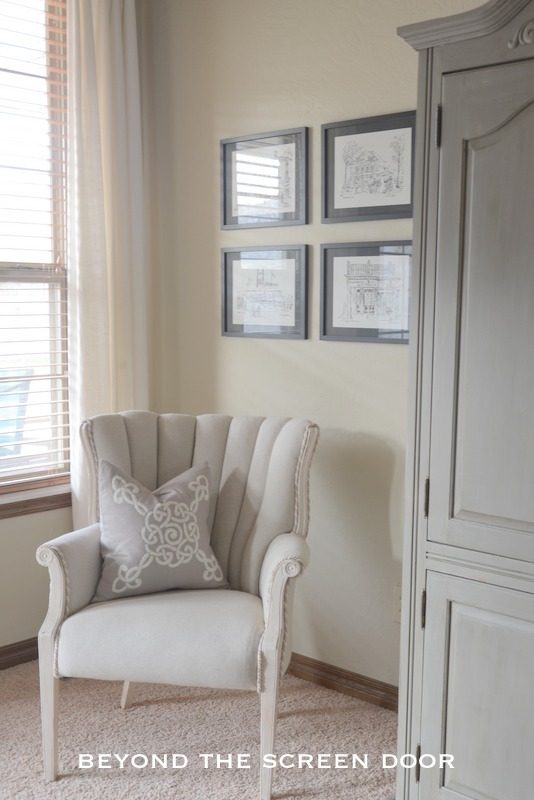Our Master Bedroom and A Vintage Chair Before & After