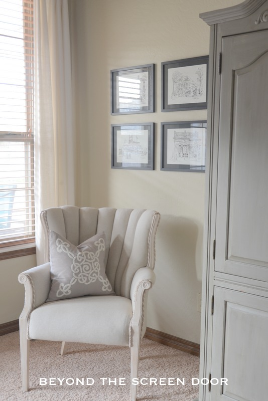 Reupholstered Vintage Channel Back Chair 1